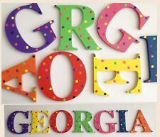 Polka Dot Hand Painted 9cm Wooden Letters for Baby Nursery/Kids Bedroom Doors $6