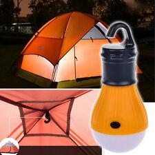 Soft Light Outdoor Hanging LED Camping Tent Light Bulb Lantern Lamp Orange FR