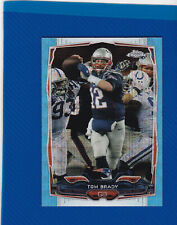 Tom Brady 2014 Topps Chrome 62 Blue Wave Refractor - Patriots