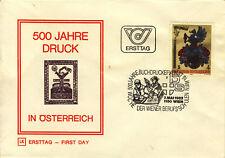 Ersttagsbrief Österreich MiNr. 1701, 500 Jahre Druck in Österreich