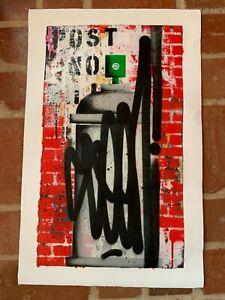 seen graffiti original canvas 2020 700mm high by 450mm wide !