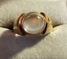 HIGH END ESTATE 18k Yellow Gold Round CLEAR Stone Ladies Cocktail Ring ~((M76))