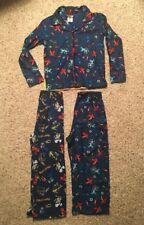 Lego Ninja 2 Piece Pajama Set and PJ Pants Lot Size 8 10 Blue 100% Polyester GUC