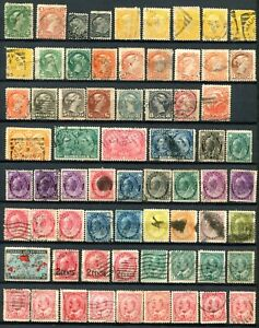Canada - Good collection of old stamps  with  some duplicates ( 5 pages) -