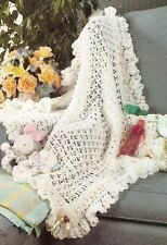BEAUTIFUL White Lace Baby Afghan/Crochet Pattern INSTRUCTIONS ONLY
