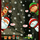 Christmas Santa Removable Window Stickers Art Decal Wall Home Shop Decor Gift