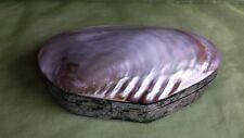 Schmuckschatulle Perlmutt Stoff Muschel Box Kiste Ablage Natur Bali Indonesien