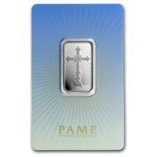 Lingot Suisse PAMP 10g argent pur 9999 / 10g ROMANESQUE CROSS Fine Silver Bar