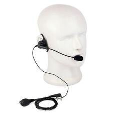 D-Shape PTT Earpiece Headset Mic for Kenwood KPG/TK Series BAOFENG Retevis Radio