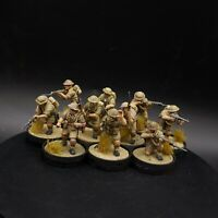 Pro Painted 28mm bolt action British 8th army infantry×10 squad #2 ww2