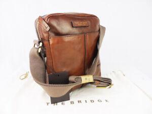 THE BRIDGE classic leather retro bag crossbody brown unisex current season
