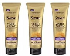 LOT OF 3 NEW SUAVE VISIBLE GLOW SELF TANNING LOTIONS FAIR TO MEDIUM SELF TANNER!