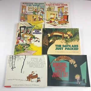 Lot Of 6 Calvin and Hobbes Paperback Books