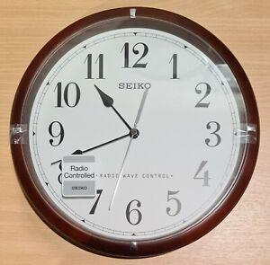 Seiko QXR303B Radio Controlled Wooden Wall Clock - Dark Brown