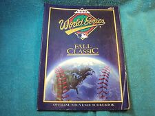 Vtg 1995  World Series Fall Classic Atlanta Braves Toronto MLB Scorebook Program