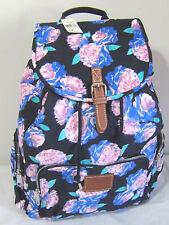 VICTORIA SECRET PINK Navy Mint Blue Floral FULL SIZE CARRY ON BACKPACK BOOK BAG