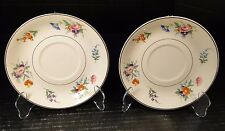 Syracuse China Selma Old Ivory Saucers for Soup Bowls, (just Saucers) 2 NICE