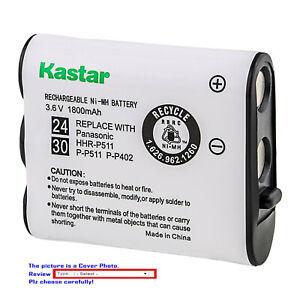 Kastar Ni-MH 3.6V 1800mAh Battery for AT&T 104 Energizer ER-P511 P-P511 Cordless