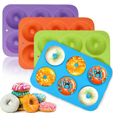 Silicone Donut Mold, Donut Mould Pan Baking Tray for Bagels Cake Biscuit Muffins