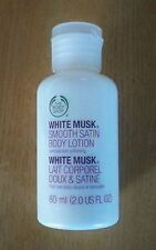 THE BODY SHOP WHITE MUSK SMOOTH SATIN BODY LOTION, 2 OZ, NEW, FREE SHIPPING!