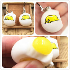 Funny Novelty Gudetama Lazy Egg Squeeze Stress Reliever Venting Ball Pendant de~