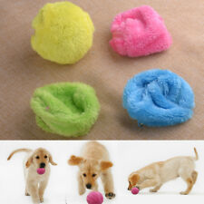 Cute Pet Cat Dog Training Play Electric Ball Plush Activation Toy Rolling