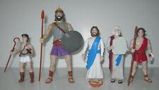 1997-98 Rainfall Bible Action Figures-Jesus-Moses-David-Samson-Goliath-Used-VGC