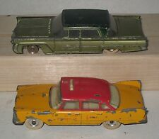 Lot of 2 Vintage Dinky Toys Cars #532 Lincoln Premiere & Plymouth Plaza HW64