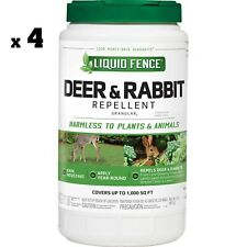 Liquid Fence 2 lb. Deer and Rabbit Repellent Granules NEW FREE SHIPPING x4 CANS