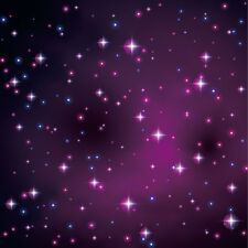 Photography Backdrops Vinyl Photo Seamless Background 10x10Ft Purple Twinkle