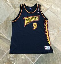 Vintage Golden State Warriors John Starks Champion Basketball Jersey, Size 52, X