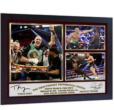 NEW 2020 Tyson Fury v Deontay Wilder 2 signed photo poster Gypsy King FRAMED