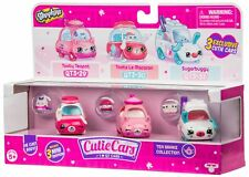 SHOPKINS Cutie Cars S3 TEA BRAKE COLLECTION (3 Pack) Toy Vehicles Playset