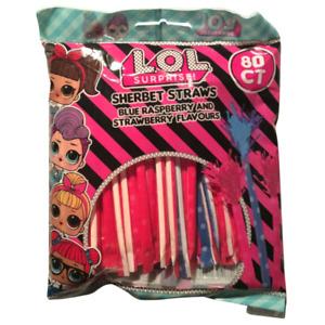 Rainbow Sherbet Straws Retro Candy Swizzle Party Filler Lol Sweets Mega
