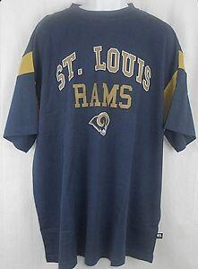 St. Louis Rams NFL Mens Shoulder Stripe Shirt Navy Big Sizes
