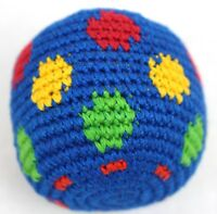One Hacky Sack Juggling Balls Footbag Spots Made In Guatemala Magic Toy