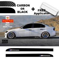 BMW E90 E91 E92 3 Series M Performance Side Skirt Sticker 3D Carbon Or Black Mat