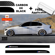 BMW E90 E91 E92 3 Series M Performance Side Skirt 3D Carbon Sticker Decal Livery