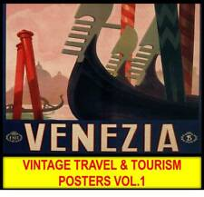 Vintage TOURISM TRAVEL POSTERS #1 in DVD Disc Old Advertising Litho Images Lot