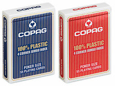 2 x single deck COPAG PLAYING CARDS + COPAG CUT CARD
