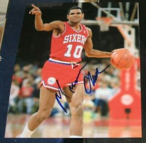 Maurice Mo Cheeks Philadelphia 76ers SIGNED AUTOGRAPHED 8x10 Photo COA NBA