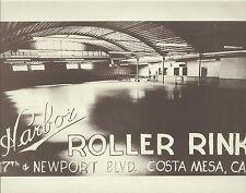 COSTA MESA 17th/Newport HARBOR ROLLER RINK 1950 VINTAGE Photo Print 1204 11 x 14