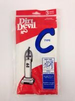 DIRT DEVIL VACUUM CLEANER BAGS TYPE C MICRO FRESH Sealed 3 Count