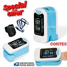 FingerTip Pulse Oximeter Blood Oxygen SpO2 Monitor CMS50NA Blue US Seller CONTEC