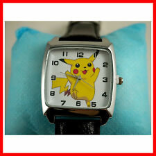 RARE Pokemon Pikachu Quartz Steel Wrist Watch Fashion Boy Man FREE SHIP