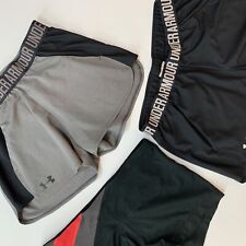 Womens Under Armour Shorts Lot Of 3 Size S/M Black