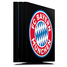 Sony Playstation 4 PS4 Pro Folie Aufkleber FC Bayern München Logo auf Schwarz