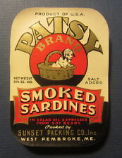 Wholesale Lot of 100 Old Vintage - PATSY - Puppy Dog - SARDINES LABELS - MAINE