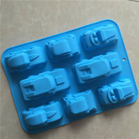 8 Truck Jeep Car Shape Silicone Cake Baking Mold/Cake Pan Muffin Cups for DIY