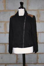 ASOS Ladies Denim Biker Jacket with Tapestry Yoke UK 12 COLOUR IN MULTI